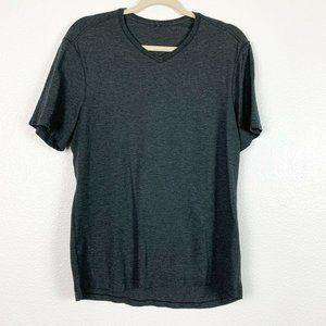 Lululemon  Medium Gray Short Sleeve V-Neck Shirt